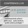 Conférence Live : Investissements actions